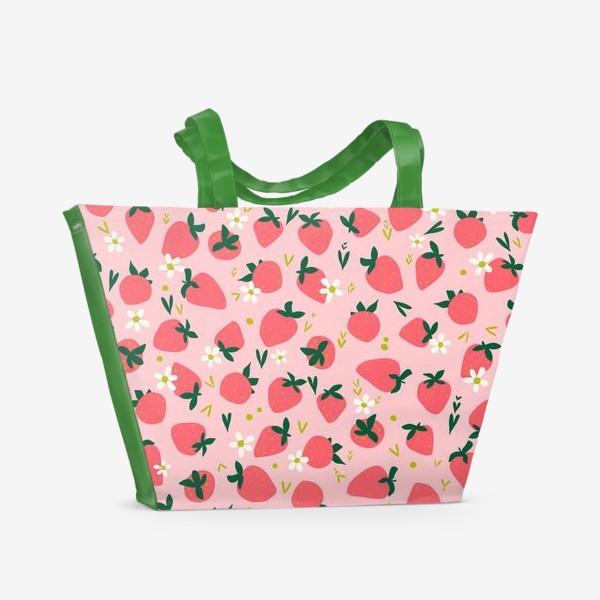 Пляжная сумка «клубника»
