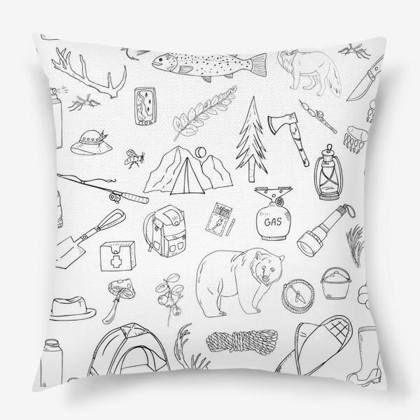 Подушка «походная жизнь, туризм»