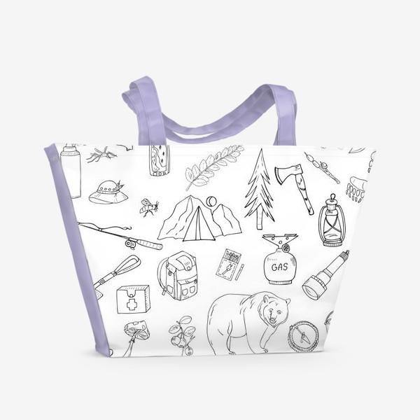 Пляжная сумка «походная жизнь, туризм»