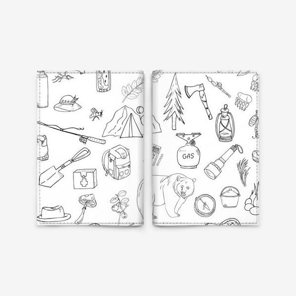 Обложка для паспорта «походная жизнь, туризм»