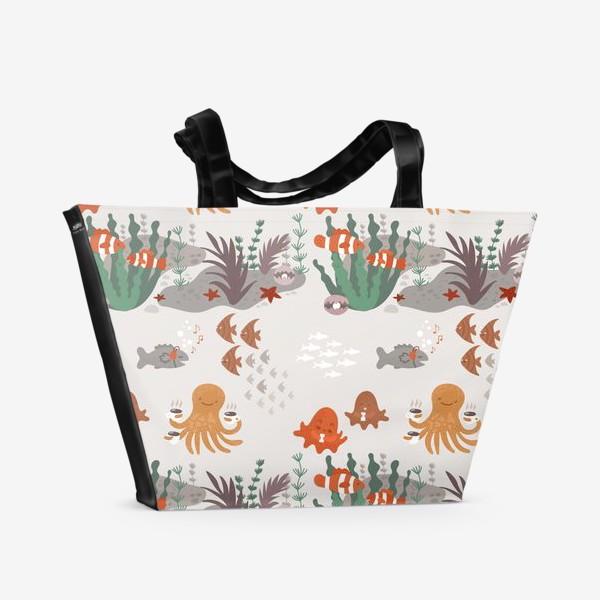 Пляжная сумка «Подводная тусовка»