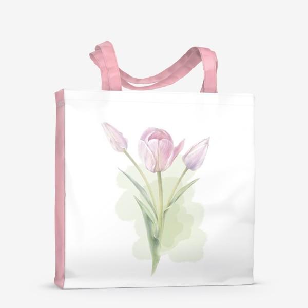 Сумка-шоппер «Светло-сиреневые тюльпаны Букет 2»