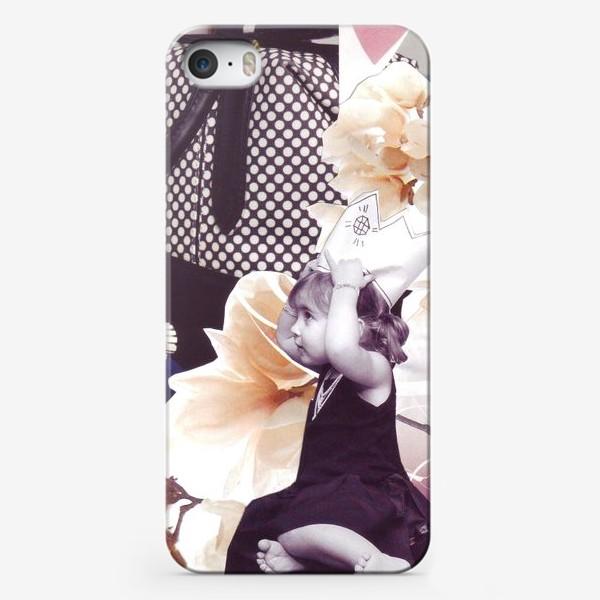 Чехол iPhone «Коллаж Девочка»