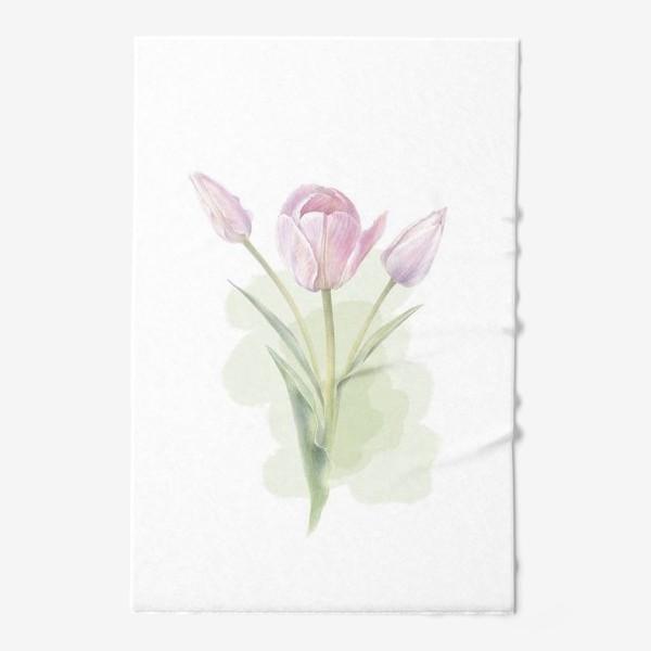 Полотенце «Светло-сиреневые тюльпаны Букет 2»