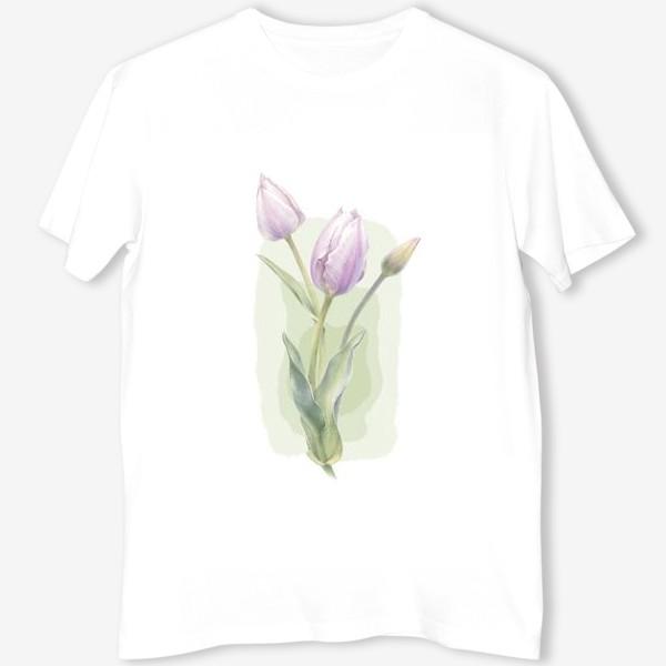 Футболка «Светло-сиреневые тюльпаны Букет 1»