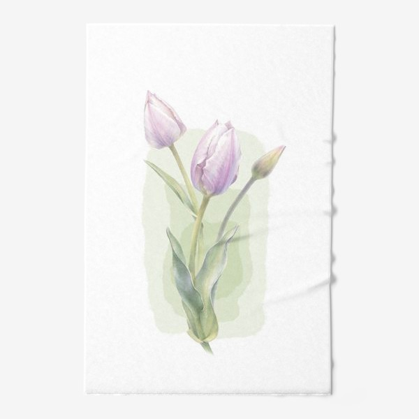 Полотенце «Светло-сиреневые тюльпаны Букет 1»