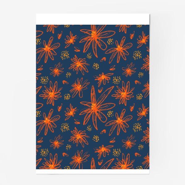 Постер «оранжевые цветы»