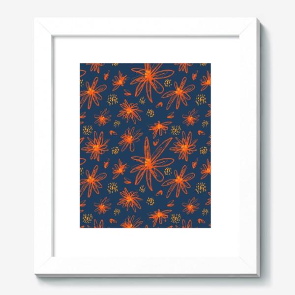 Картина «оранжевые цветы»