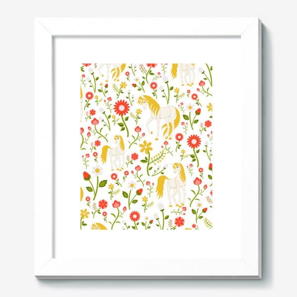Картина «Летний узор с единорогами»