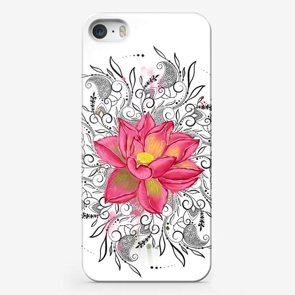Чехол iPhone «Мандала и лотос»