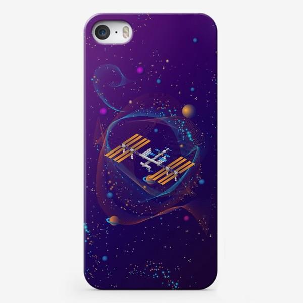 Чехол iPhone «Космическая станция (МКС)»