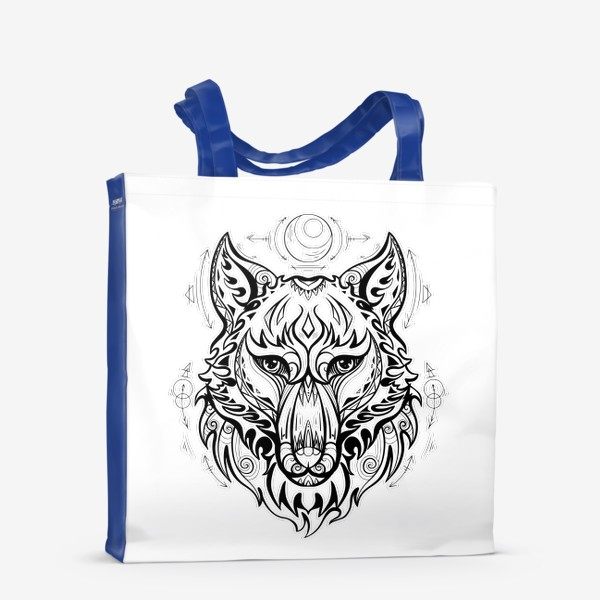 Сумка-шоппер «Волк с символами »