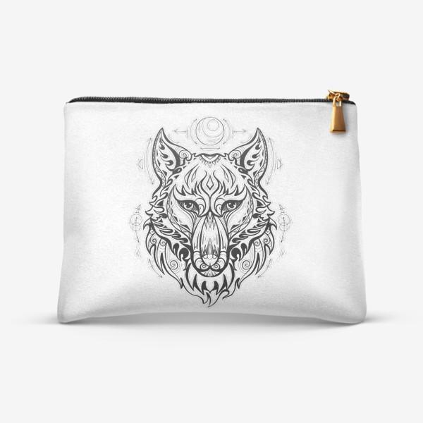 Косметичка «Волк с символами »