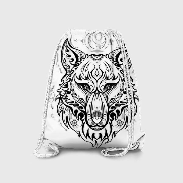 Рюкзак «Волк с символами »