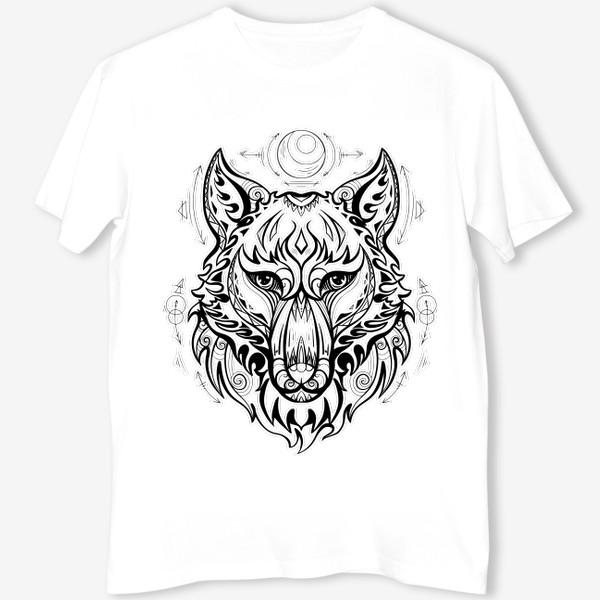 Футболка «Волк с символами »