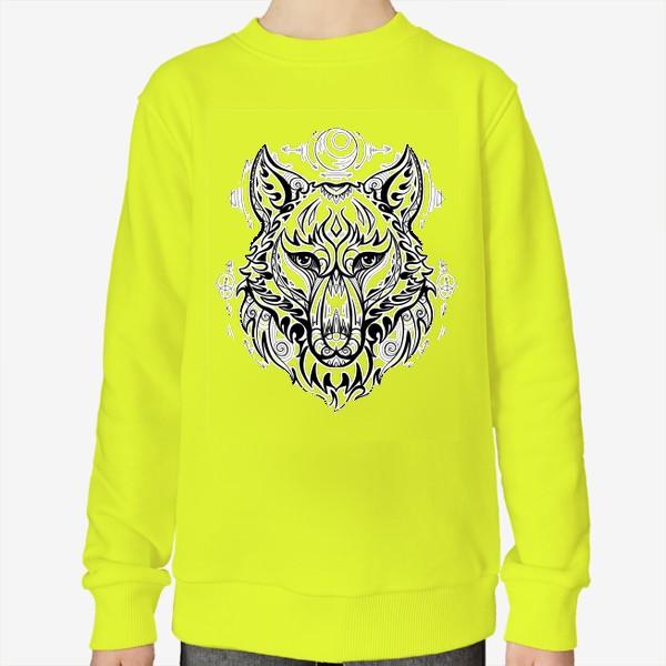 Свитшот «Волк с символами »