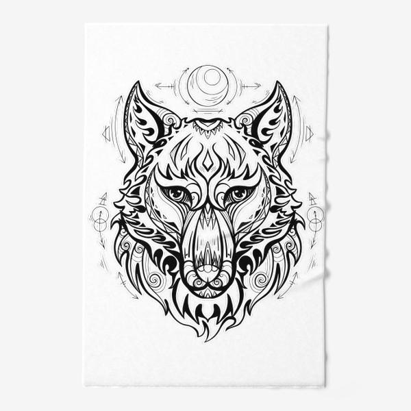 Полотенце «Волк с символами »