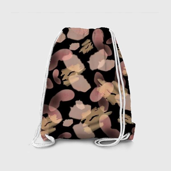 Рюкзак «Абстракция акварельная черная розовая»