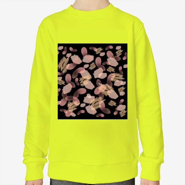 Свитшот «Абстракция акварельная черная розовая»