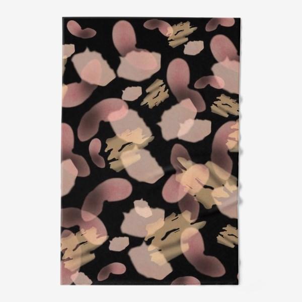 Полотенце «Абстракция акварельная черная розовая»