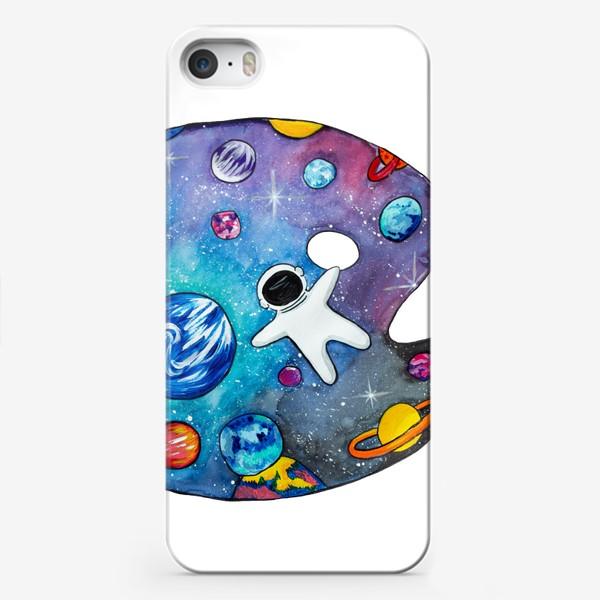 Чехол iPhone «Космос День Космонавтики Планеты Звезды Космонавт»