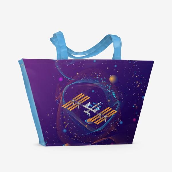 Пляжная сумка «Космическая станция (МКС)»