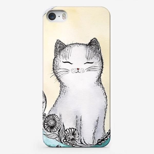 Чехол iPhone «Котик на солнышке.»