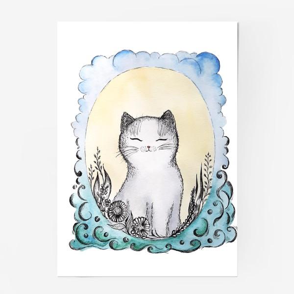 Постер «Котик на солнышке.»