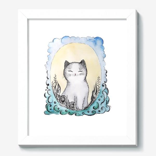 Картина «Котик на солнышке.»
