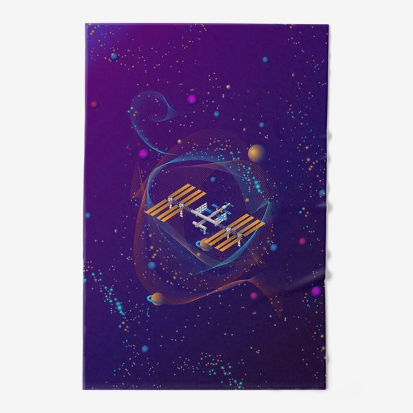 Полотенце «Космическая станция (МКС)»