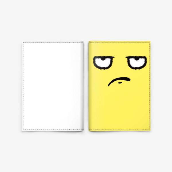 Обложка для паспорта «Недоволен»