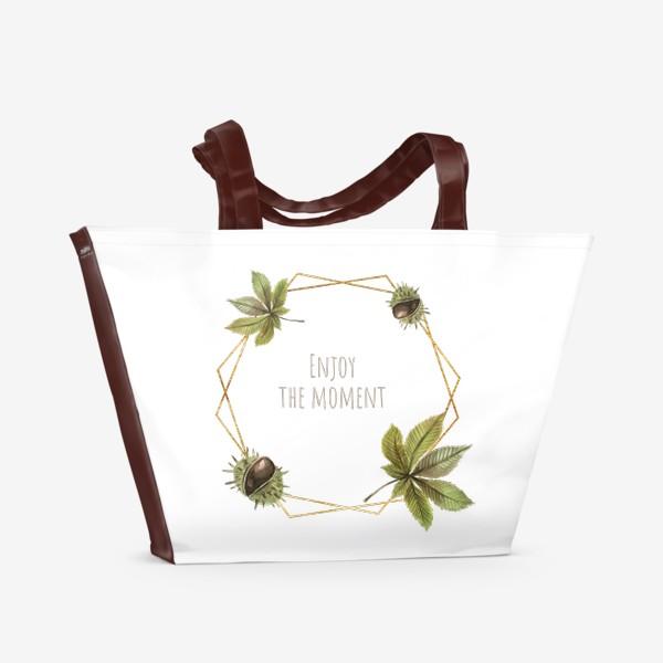 Пляжная сумка «Рамка каштан»
