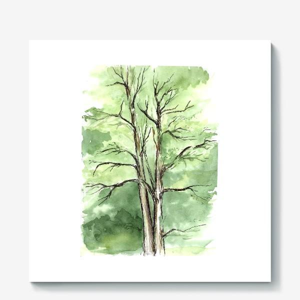 Холст «Летнее дерево.»