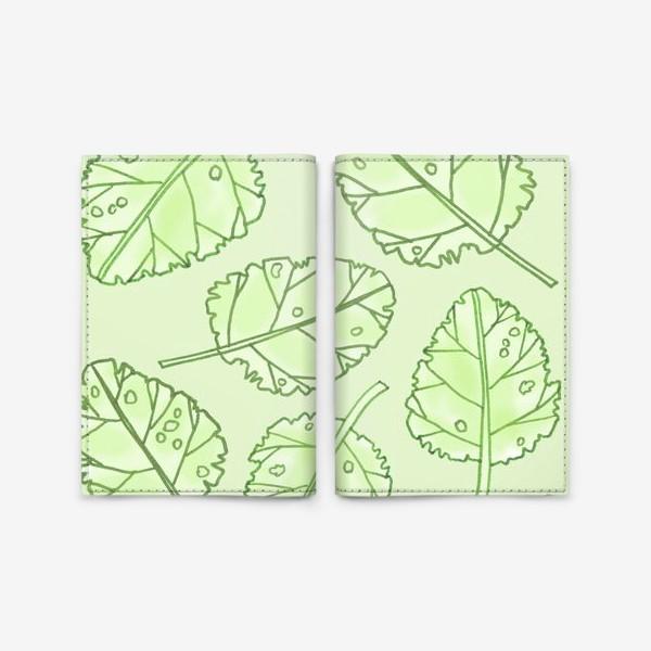 Обложка для паспорта «Весенняя листва»
