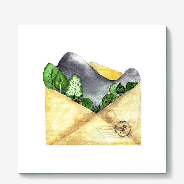Холст «Горы в конверте»
