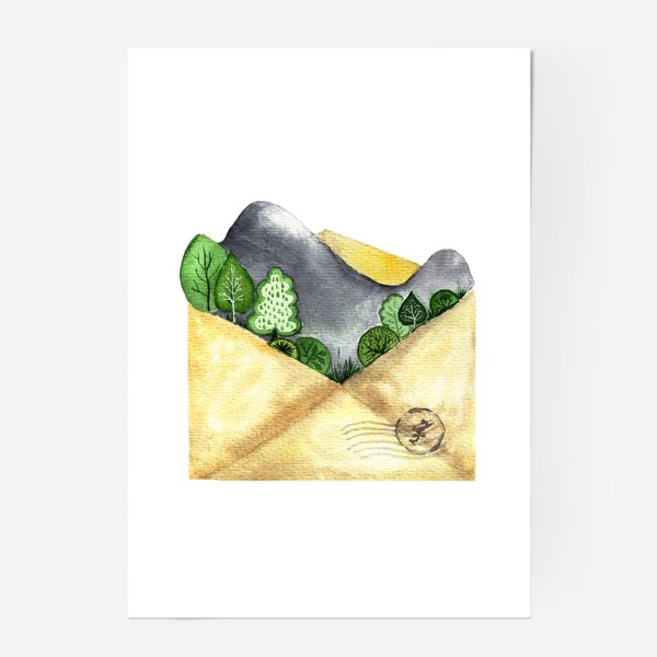 Постер «Горы в конверте»