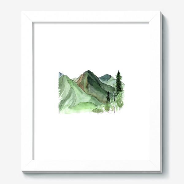 Картина «Горы. Акварельный скетч. Сочи.»