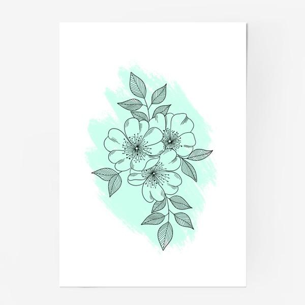 Постер «Цветущая яблоня»