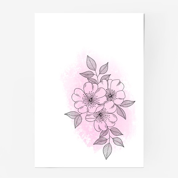 Постер «Цветущая яблоня 2»