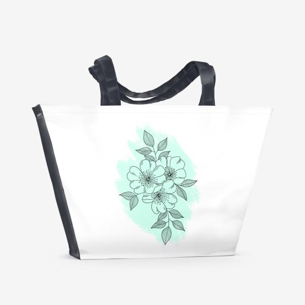 Пляжная сумка «Цветущая яблоня»