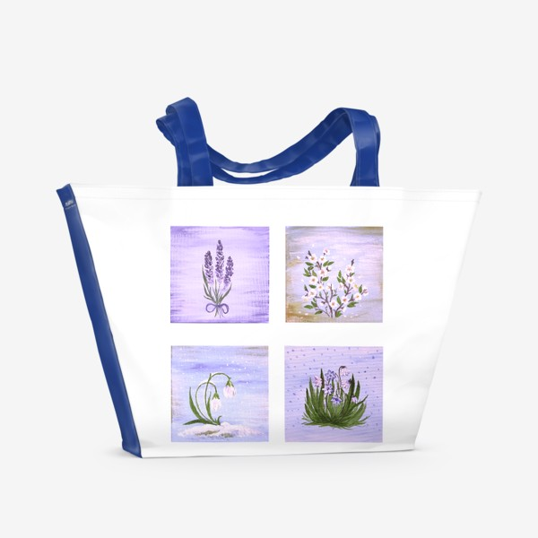 Пляжная сумка «Лавандовая весна.»