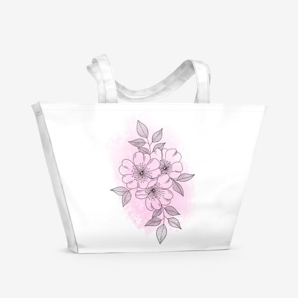 Пляжная сумка «Цветущая яблоня 2»