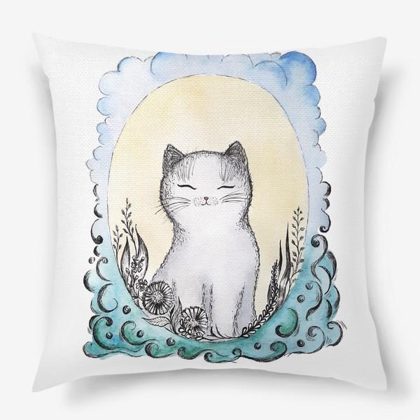 Подушка «Котик на солнышке.»