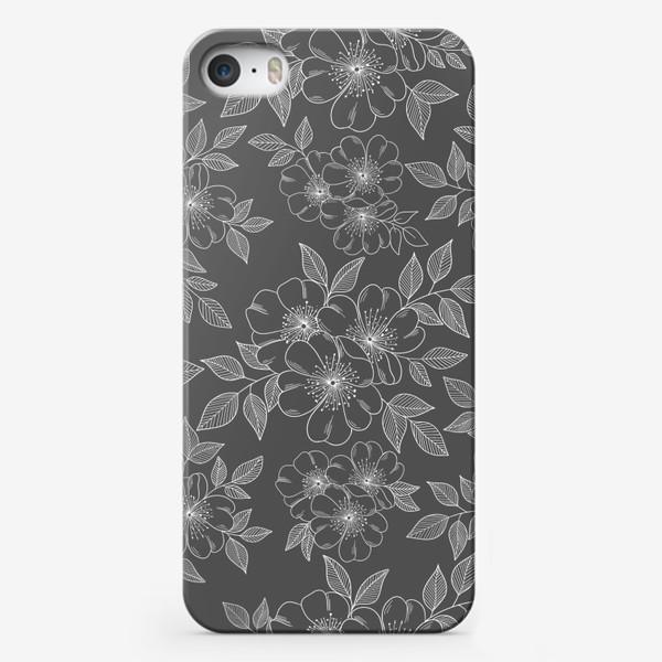 Чехол iPhone «Цветущая яблоня на сером»