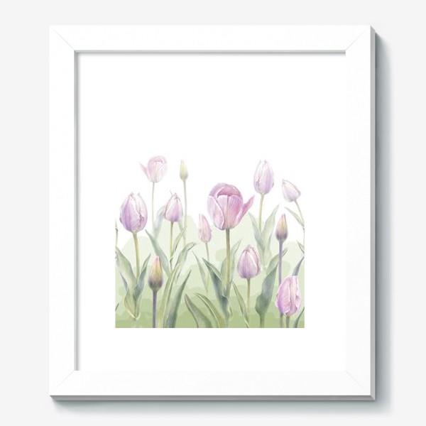 Картина «Светло-сиреневые тюльпаны Букет 3 КУПОН»