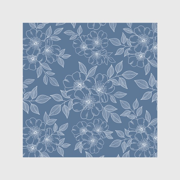 Скатерть «Цветущая яблоня на синем»