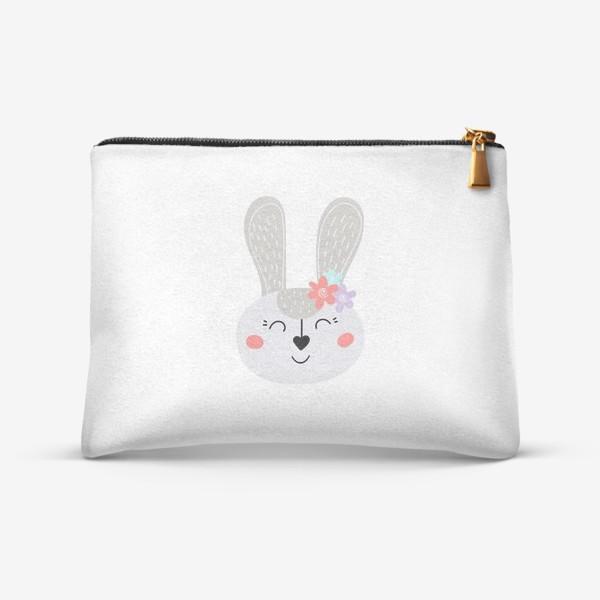 Косметичка «Милый зайчик. Кролик с цветочками»