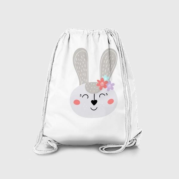 Рюкзак «Милый зайчик. Кролик с цветочками»