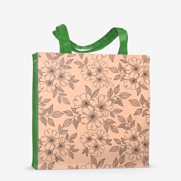 Сумка-шоппер «Цветущая яблоня на телесном»