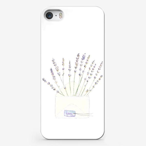 Чехол iPhone «Лаванда в конверте. С любовью...»